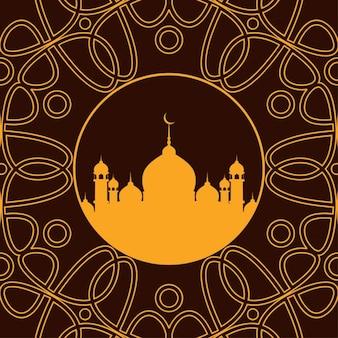美しいイスラムの背景デザイン