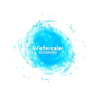 抽象的な青い水彩のデザインの背景
