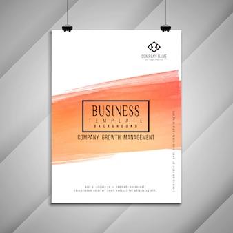 抽象的なビジネスパンフレットのテンプレートデザイン