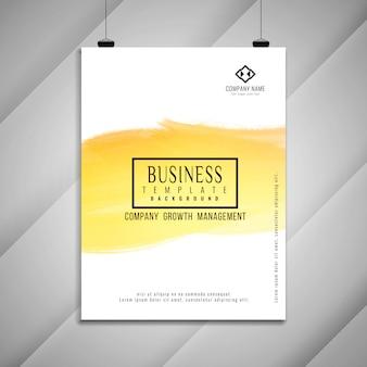 抽象的な明るいビジネスパンフレットのテンプレートデザイン