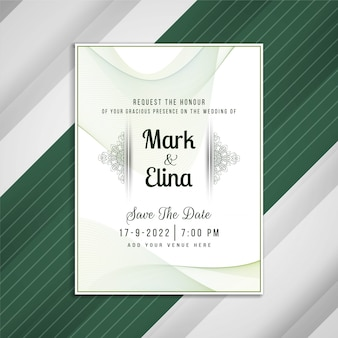 抽象的な結婚式招待状アートカードデザイン