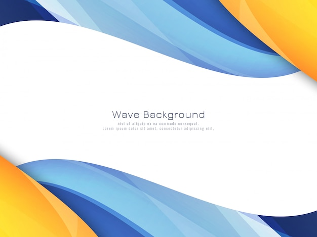 抽象的な明るいカラフルな波の背景