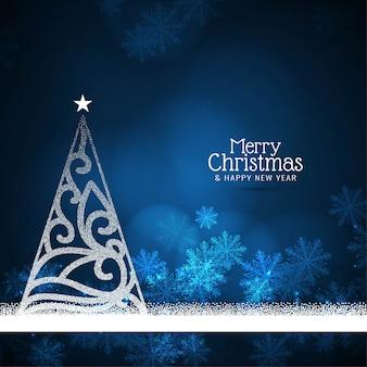 抽象的な美しいメリークリスマスのお祝いの背景