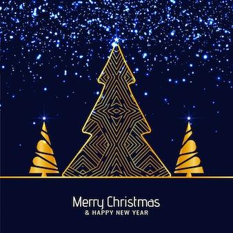 抽象的なメリークリスマスの輝きの背景