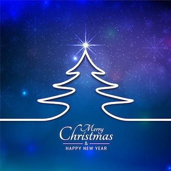 Красивый веселый рождественский фестиваль синий фон