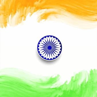 幸せ共和国記念日インドの旗のデザインの背景