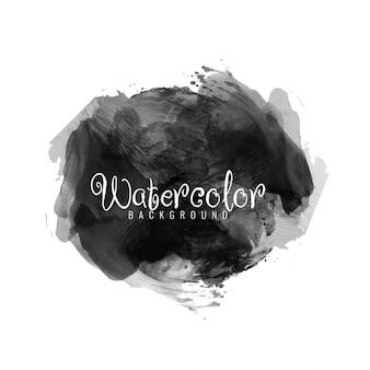 黒の水彩画のモダンなデザインの背景