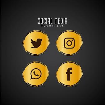 Набор абстрактных иконок социальных медиа