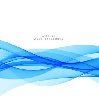 抽象的な青い波状の背景デザイン