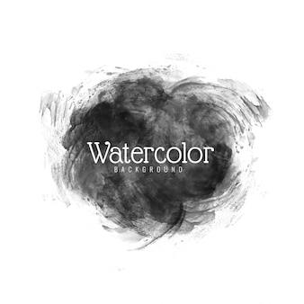 モダンな黒の水彩ベクトルデザイン