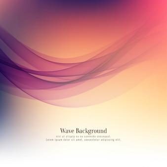 抽象的な美しい波背景デザインのベクトル
