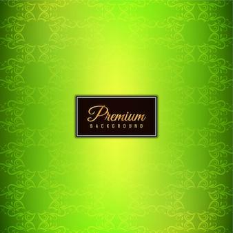 抽象的なスタイリッシュなグリーンのプレミアム背景