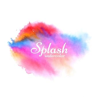 柔らかいカラフルな水彩スプラッシュデザインのベクトル