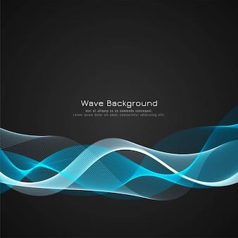 カラフルな明るい波の暗い背景