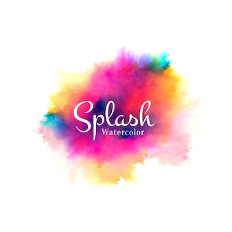 カラフルな水彩スプラッシュ手描きデザイン