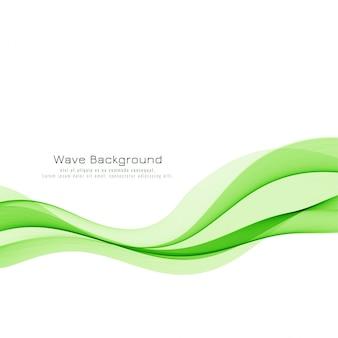 Стильный зеленый фон волны