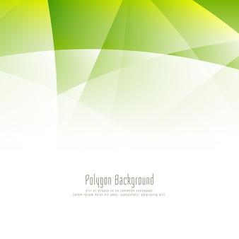 抽象的なグリーンポリゴンデザインの背景