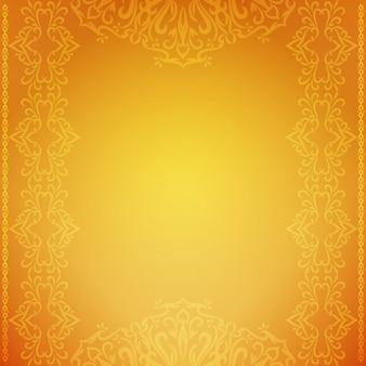 抽象的な装飾的な豪華な黄色の背景