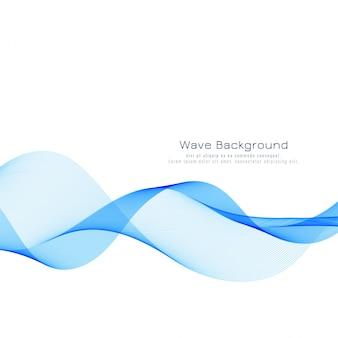 Современный стильный синий фон волны