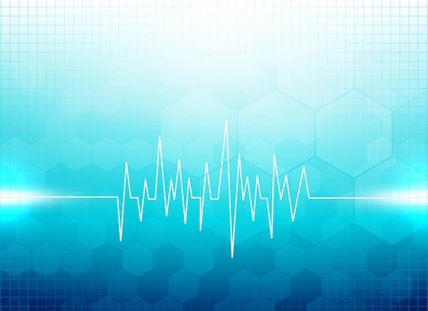Современный синий медицинский фон