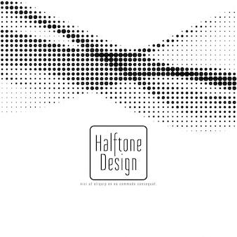抽象的なハーフトーンデザインの背景