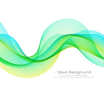 カラフルな波のスタイリッシュな背景