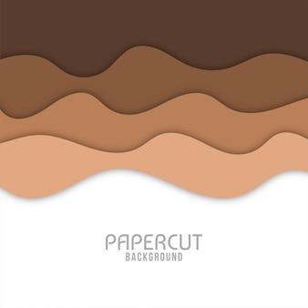 抽象的なカラフルな波状紙カットの背景