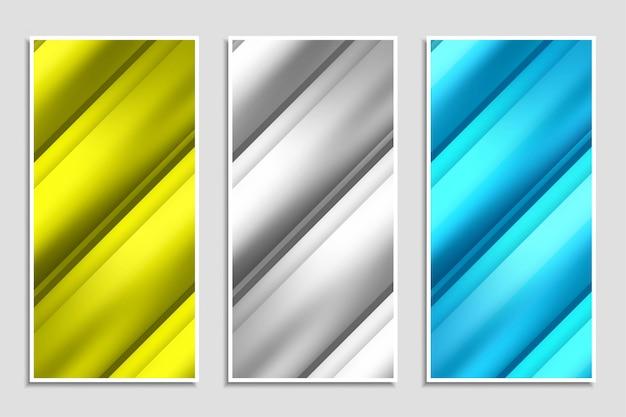 Абстрактные красочные стильные полосы баннер