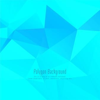 青のエレガントな多角形の背景