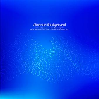 抽象的な青い色の点線波背景
