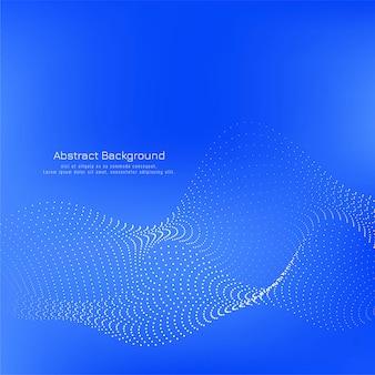 モダンな青い色の点線の波背景