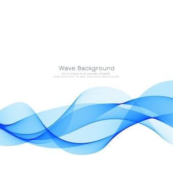 Абстрактный стильный синий фон волны