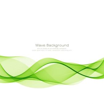 抽象的なエレガントな緑の波背景