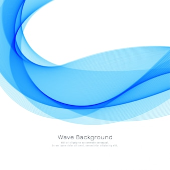 エレガントな青い波背景