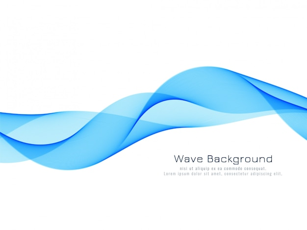 抽象的な動的な青い波背景