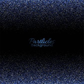 抽象的な青いキラキラ粒子背景