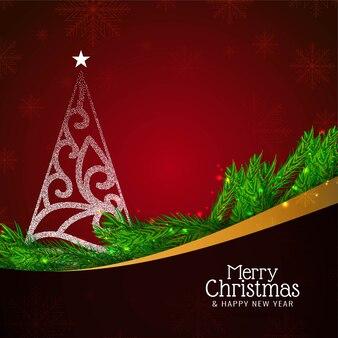抽象的なメリークリスマスの美しいお祝いの背景