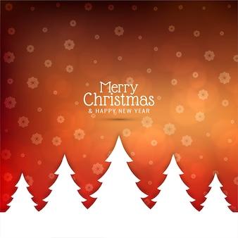 メリークリスマスクリスマスツリーと背景を挨拶