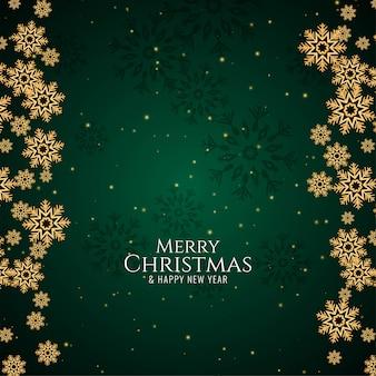メリークリスマスの緑の背景の挨拶