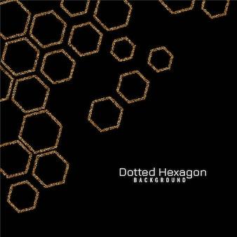 輝きの六角形の現代ベクトル