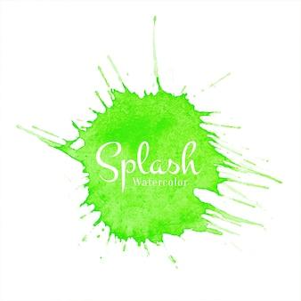 緑の水彩スプラッシュ