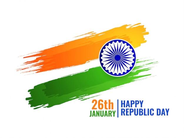 抽象的なインド国旗トリコロール背景