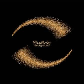 金色の粒子渦巻きキラキラ背景