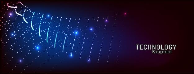 モダンな点線粒子デジタル技術の背景