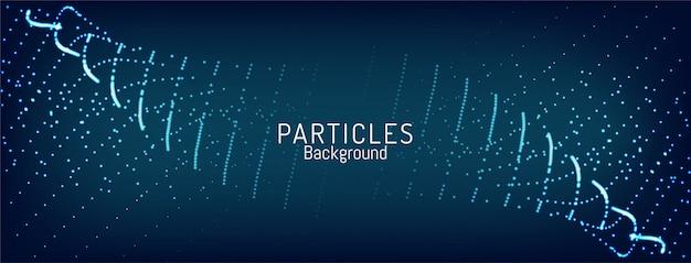 抽象的なブルーテクノロジー粒子波背景