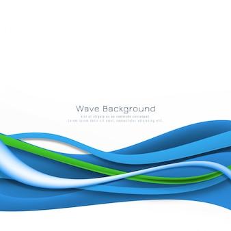 モダンでエレガントな青い波背景