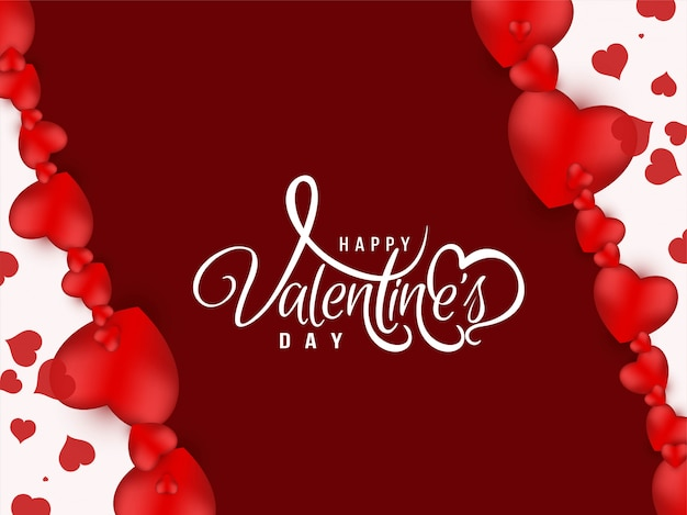 С днем святого валентина приветствие дизайн фона