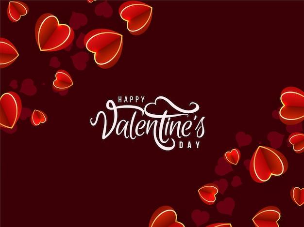 День святого валентина прекрасный фон с сердечками