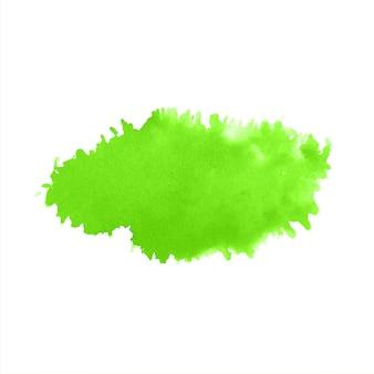 緑の水彩モダンなスプラッシュ