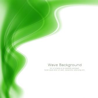 Абстрактный зеленый фон волны